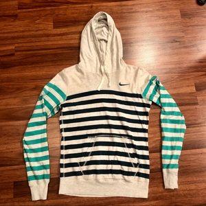 Nike Women's Striped Hoodie (S)